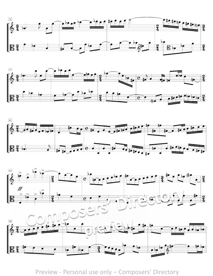 All Music Chords last date sheet music : Etude, For Violin And Viola By Daniel Alcheh By Israelcomposers ...