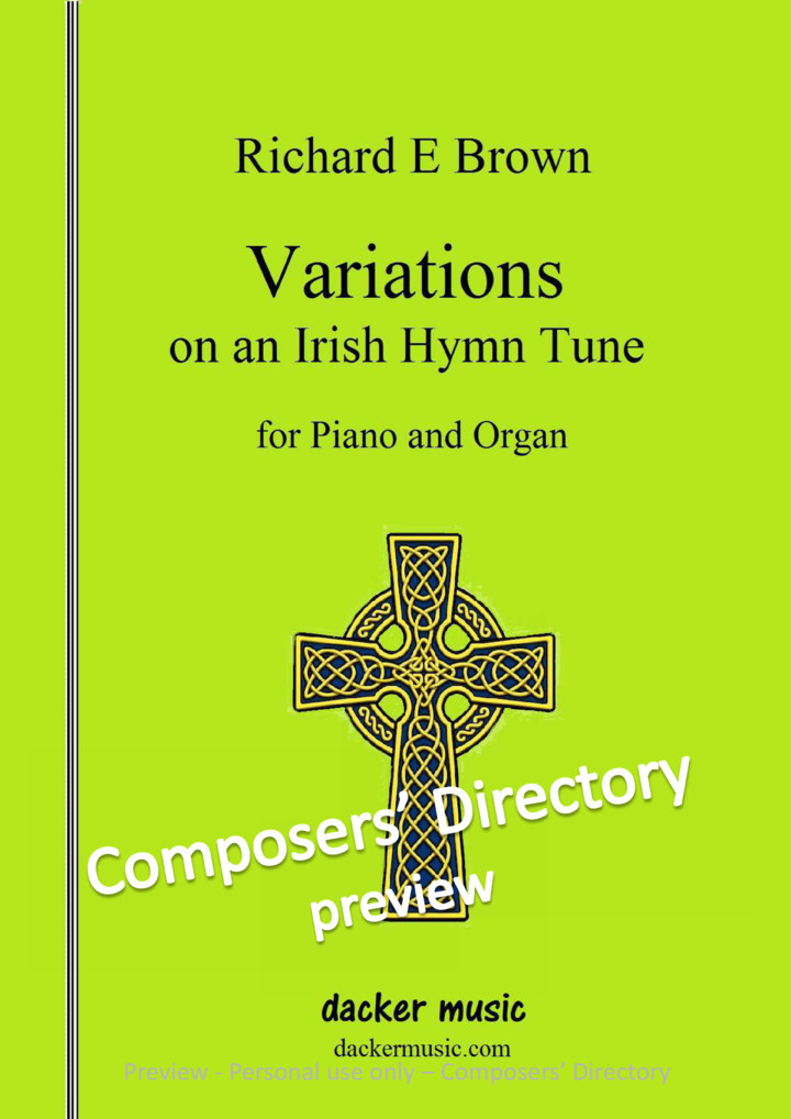 Variations On An Irish Hymn Tune By Richard E Brown- Composers